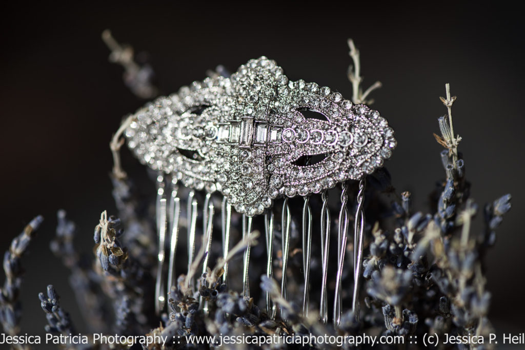 Chole + Isabel Art Deco Hairpin on Lavender