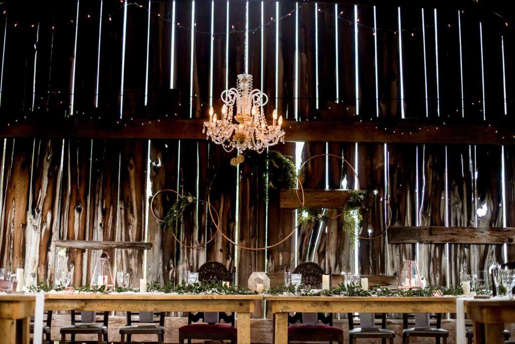 Head Table at Barn Wedding Reception_Fox Hill Farms_Jessica Patricia Photography_Wedding Photographer